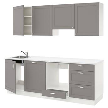 IKEA ENHET Kuchnia, szara rama, 243x63.5x222 cm