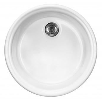 Deante Lusitano zlewozmywak ceramiczny 44,5 cm biały ZCL 680N
