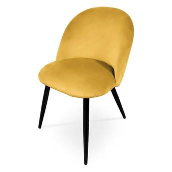 Bettso Krzesło tapicerowane SOLO - miodowy / noga czarna
