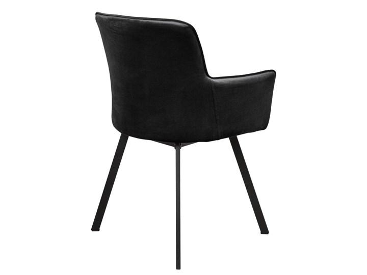 Krzesło Tapicerowane Loft Metalowe Nogi do Salonu Czarny Tworzywo sztuczne Tkanina Styl Industrialny
