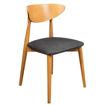 Krzesło Skandynawskie Tapicerowane do Salonu Czarny