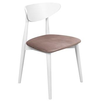 Krzesło Skandynawskie Tapicerowane do Salonu Beżowy