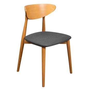 Krzesło Skandynawskie Tapicerowane do Salonu Grafit