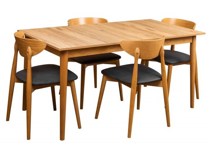 Zestaw Skandynawski Stół + Krzesła do Salonu 190/150x80 Kategoria Stoły z krzesłami Kolor Brązowy