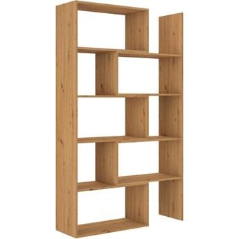 Regał 3w1 Rozsuwany Otwarty Półka na Książki Dąb Artisan