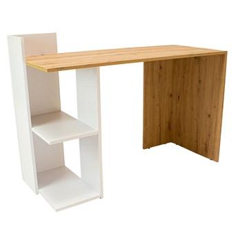 Minimalistyczne biurko komputerowe z dwiema półkami - Betrix 2X