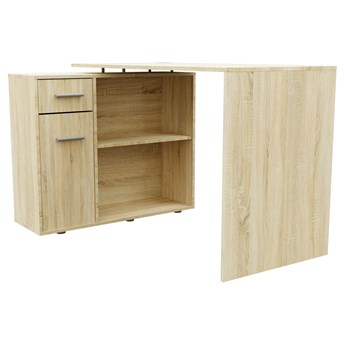 Narożne biurko komputerowe z szafką - Stefan