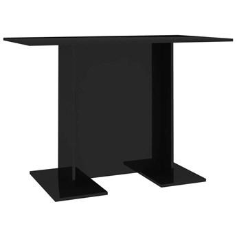 Czarny nowoczesny stół z połyskiem - Rivers