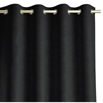 Zasłony zaciemniające z eleganckim tłoczonym wzorem 140x250 cm Czarne HOPP