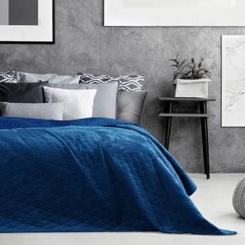 AmeliaHome –Narzuta Welwetowa Niebieska LAILA - 220x240 cm