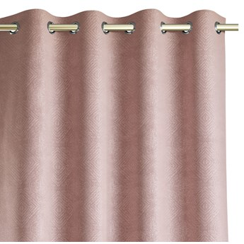Zasłony zaciemniające z eleganckim tłoczonym wzorem 140x250 cm Różowe HOPP