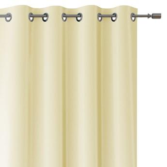 Zasłony dekoracyjne na przelotkach Oxford Tie Back 140x250 cm Kremowe ELEGANTE
