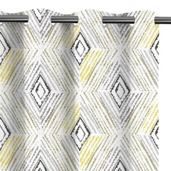 Zasłony zaciemniające na przelotkach drukowane we wzory 140x245 cm DIAMONDS YELLOW