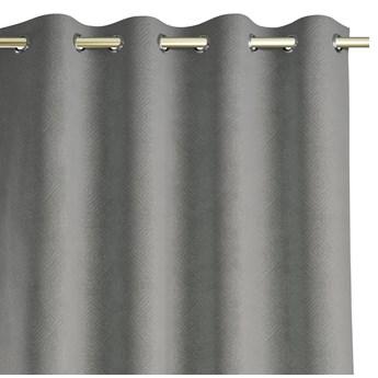 Zasłony zaciemniające z eleganckim tłoczonym wzorem 140x250 cm Szare HOPP