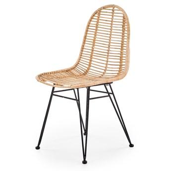 Krzesło rattanowe boho na taras do jadalni PATH