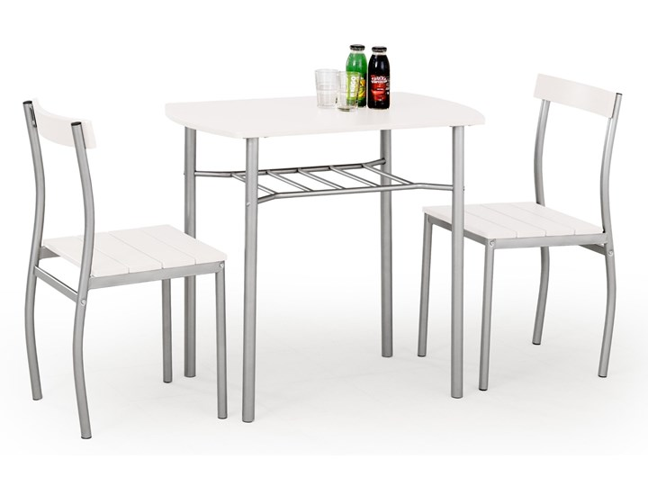 Nowoczesny Zestaw kuchenny stół i krzesła Biały KADRO