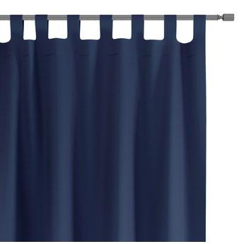 Zasłony dekoracyjne na szelkach Oxford Tie Back 140x250 cm Granatowe ELEGANTE
