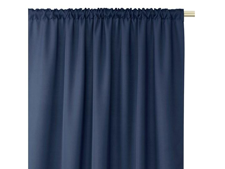 Zasłony dekoracyjne z eleganckim marszczeniem do sypialni na taśmie Oxford 140x250 cm Granatowe ELEGANTE Poliester Mocowanie Taśma