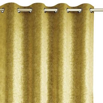 Zasłony zaciemniające na przelotkach Blackout Velvet z metalizowanym połyskiem 140x250 cm Żółte GISSA