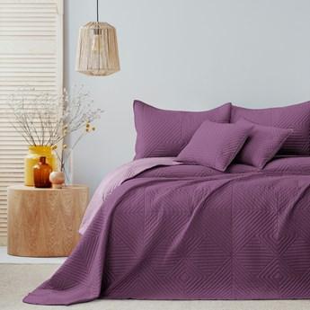 AmeliaHome - Narzuta na łóżko Pikowana Dwustronna Fioletowa SOFTA - 260x280 cm