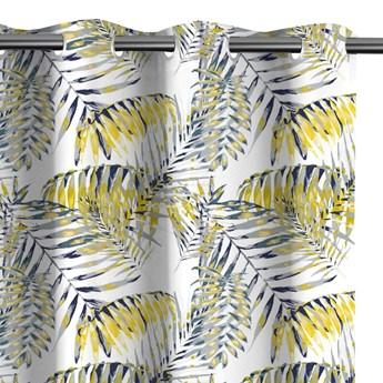 Zasłony zaciemniające na przelotkach drukowane we wzory 140x245 cm JUNGALOW YELLOW