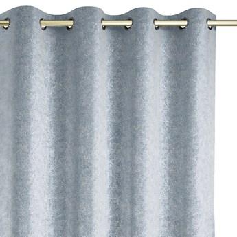 Zasłony zaciemniające na przelotkach Blackout Velvet z metalizowanym połyskiem 140x250 cm Szare GISSA