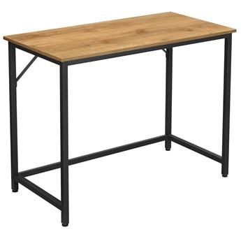 Minimalistyczne biurko do komputera Miodowy Brąz 100cm HAZEL