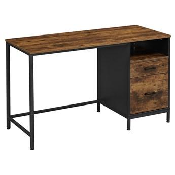 Industrialne biurko z szafką do biura i gabinetu RUSTO