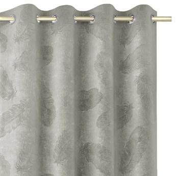 Zasłony welwetowe tłoczone na przelotkach Dekoracyjne 135x250 cm Srebrne PAONNE