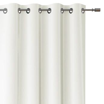 Zasłony dekoracyjne na przelotkach Oxford Tie Back 140x250 cm Białe ELEGANTE