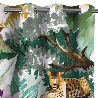 Zasłony zaciemniające na przelotkach Fauna Flora 140x250 cm TROPICAL ANIMALS