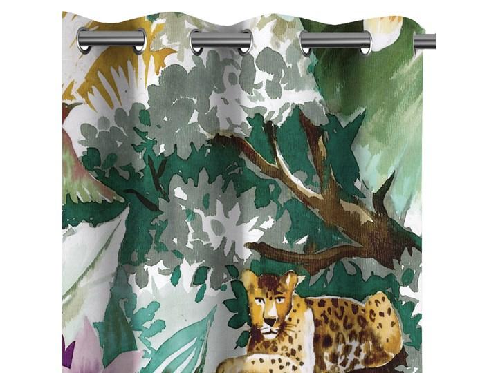 Zasłony zaciemniające na przelotkach Fauna Flora 140x250 cm TROPICAL ANIMALS Zasłona zaciemniająca Poliester Mocowanie Kółka Pomieszczenie Salon