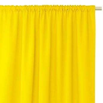 Zasłony dekoracyjne z eleganckim marszczeniem do sypialni na taśmie Oxford 140x250 cm Żółte ELEGANTE