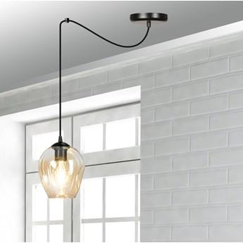 LEVEL 1 BL MIODOWY 758/1 lampa wisząca klosze szklane kule regulowana nowoczesna