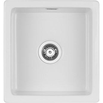 Deante Sabor zlewozmywak ceramiczny 45x47,8 cm biały ZCB 6103