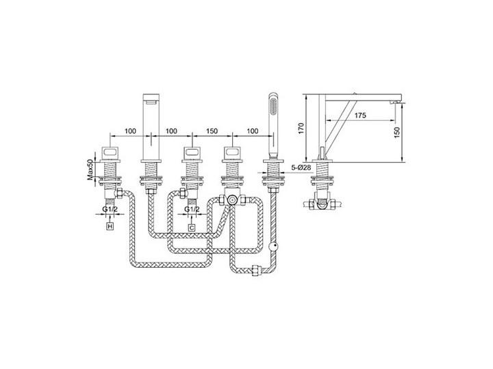 Kohlman Nexen bateria wannowa QB242U Kategoria Baterie łazienkowe