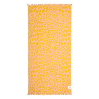 Pomarańczowo-różowy ręcznik plażowy Sunnylife Call of the Wild