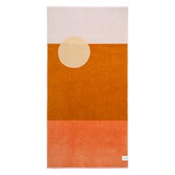 Pomarańczowy ręcznik plażowy Sunnylife Deset Palms