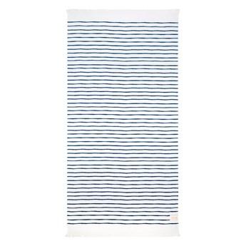 Niebiesko-biały ręcznik plażowy Sunnylife Nouveau Bleu