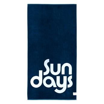 Niebieski ręcznik plażowy Sunnylife Nouveau Bleu