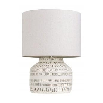 Lampa biurkowa Classic I 47cm terakota beż Invicta