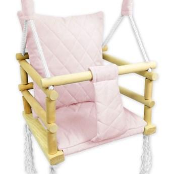 Różowa huśtawka pikowana dla dziewczynki - Lajra