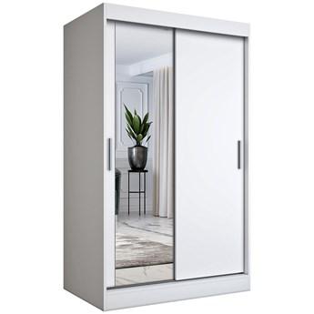 Biała szafa przesuwna z lustrem - Lenora 3X