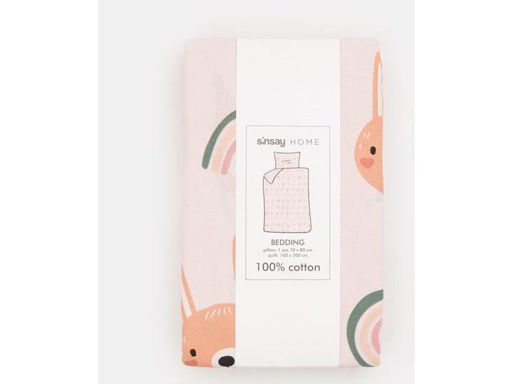 Sinsay - Komplet bawełnianej pościeli - Różowy Bawełna 160x200 cm Komplet pościeli Kategoria Komplety pościeli