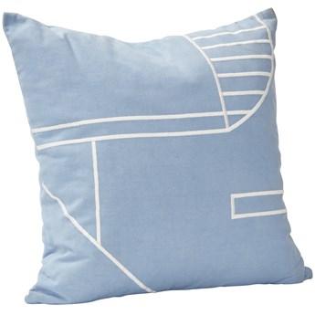 Poduszka dekoracyjna Saros 45x45 cm niebiesko-biała