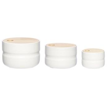 Pojemniki Svis (3-set) białe