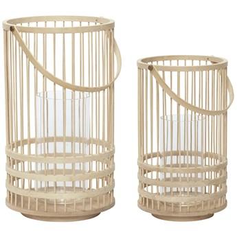 Zestaw dwóch latarenek Holel bambusowych