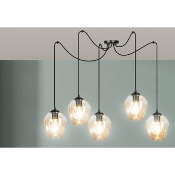 LEVEL 5 BL MIODOWY 758/5 lampa wisząca klosze szklane kule regulowana nowoczesna