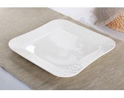 Serwis obiadowy DUO GAMMA na 6 osób (18 el.) -- srebrny biały