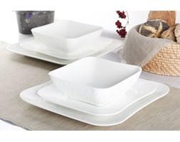 Serwis obiadowy GAMMA na 6 osób (18 el.) -- srebrny biały